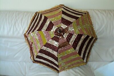 Handmade Indian Patch Work Multi-color Umbrella Hand crafted (UM-10)