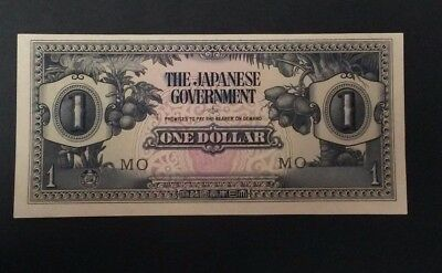 The Japanese Government One Dollar WWII Banknotes Invasion Money - Uncirculated