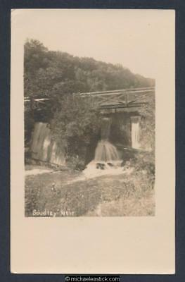 Soudley Weir, Gloucestershire, Real Photo Postcard