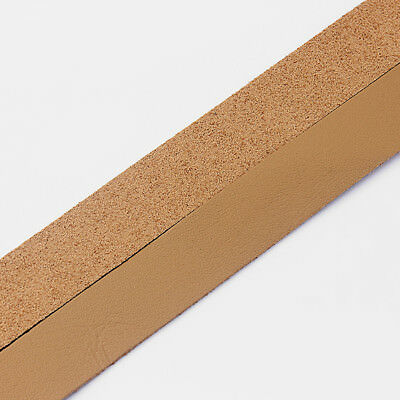 1 Meter 20mm Flat Leather Strip & Faux Suede Cord Lychee Pattern 1.3mm Thickness