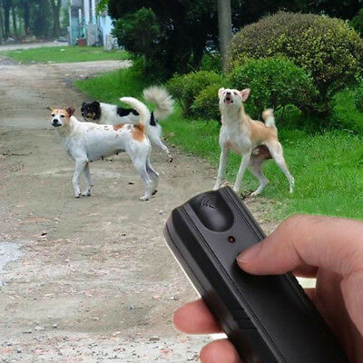 1pc Ultrasonic Aggressive Dog Pet Repeller Training Stop Anti Barking Device