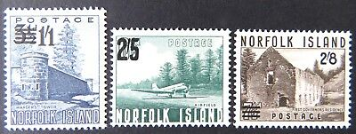 1960 Norfolk Island Stamps - Surcharges on 1953 Stamps - Set of 3 MNH