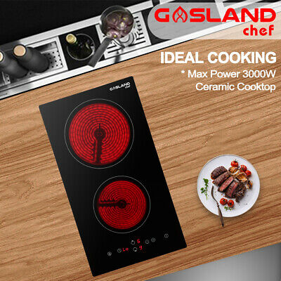 GASLAND chef Ceramic Cooktop Electric Glass 2 Zone Touch Control Kitchen 300MM