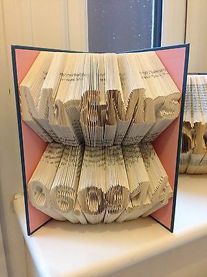 Folded Book Art. Perfect Wedding Gift. Mr&mrs Plus Date.Unique Personalised Gift
