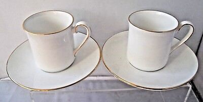 Queen's Crownford Staffordshire English Bone China Two Coffee Cups And Saucers