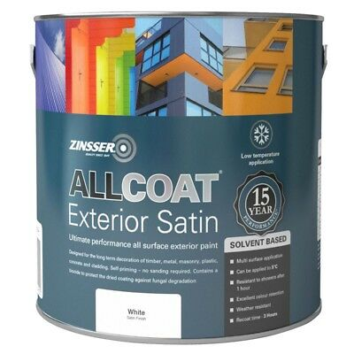 Zinsser Allcoat Multi-Surface Self-Primer Extérieur 15 An Sb Satin Blanc 2.5L