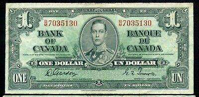 1937 $1 BC-21c, Gordon Towers, B/M Prefix, King George VI Issue
