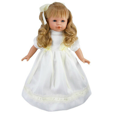 """20"""" Large Soft Bodied Vinyl Blonde Bride Girl Baby Doll 100% Hand Made Dolly"""