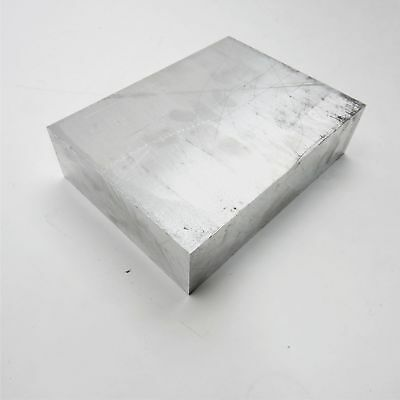 """2.25"""" thick 6061 Aluminum PLATE  6.375"""" x 8"""" Long Solid Flat Stock sku 122270"""