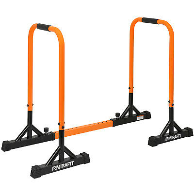 Mirafit Dip Bars & Adjustable Connector Bar Pull/Push Up Station Parallettes Gym