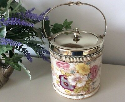 "CROWN DEVON SF & Co (FIELDINGS) BISCUIT BARREL  ""RYE"""
