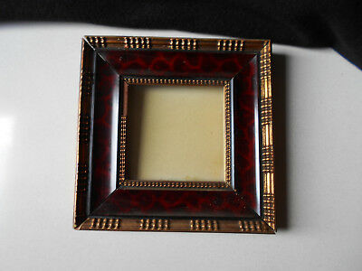 Old Frame in Tortoise - Shell / Ancien Encadrement Marqueterie Ecaille de Tortue
