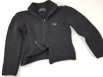 Maglione Fred Perry Casual British Style M L Grigio Vintage Donna Made in Italy