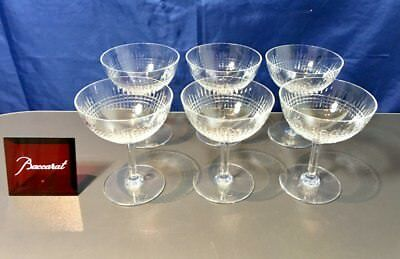 Baccarat Nancy Set 6 Coupe a Champagne - Coppe Champagne NEW IN BOX
