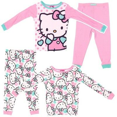 Hello Kitty Two-Pack Teal Cotton Pajamas for Toddler Girls