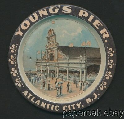 ca1910 Young's Pier Atlantic City, New Jersey Tip Tray Shonk Co. Litho