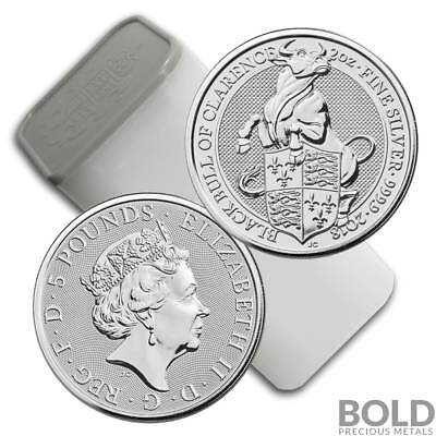 2018 Silver Great Britain Queen's Beasts (The Black Bull) - 2 oz (10 Coins)