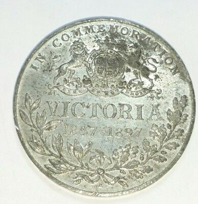 QUEEN VICTORIA COMMEMORATIVE Coin Medallion Diamond Jubilee 1837 1897