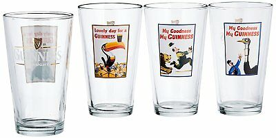 NEW GUINNESS Luminarc 16 Ounce Assorted Colorful Pub Shot Glasses Jar Pack of 8