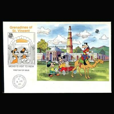 St Vincent Grenadines, FDC, 1989, Disney, Mickey's visit to India, STVG294