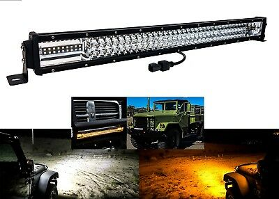 """32"""" White Amber Dual Color Changing Flasher LED Light bar Harness Security Bolt"""