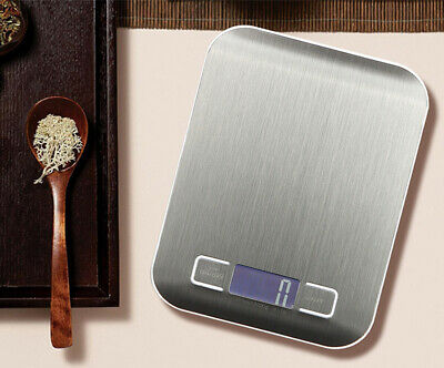 5kg Electronic Digital Stainless Steel Glass Kitchen Scale Food Postal Cooking
