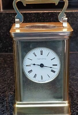 Mappin and Webb English Four Glass Carriage Clock