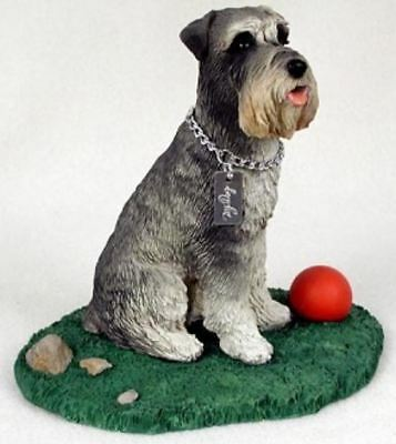 SCHNAUZER GRAY MY DOG Figurine Statue Pet Lovers Gift Resin