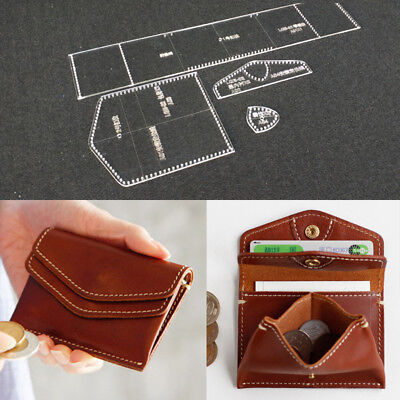 Mini Coin Purse Acrylic Leather Craft Template Pattern Stencil Tool DIY