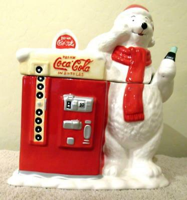 Coca Cola Machine & Polar Bear Cookie Jar New!!