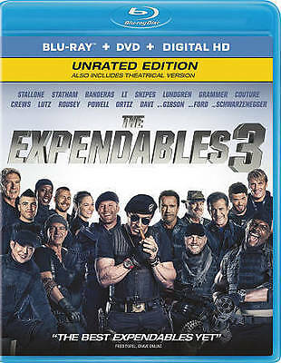 The Expendables 3 [Bluray + DVD + Digital HD] New, Free shipping