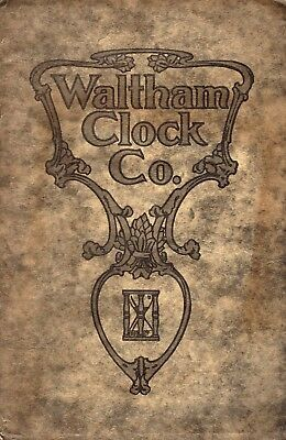 Waltham Clock Co. Vintage Catalog & price list illustrated - EXCELLENT condition