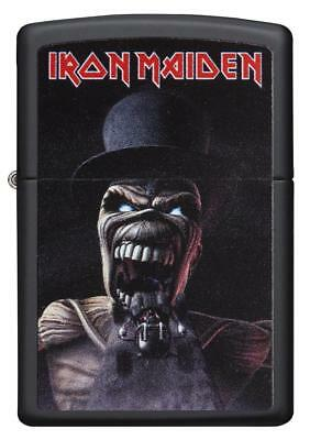 Zippo Windproof Iron Maiden Lighter With Logo & Skeleton, 29576, New In Box