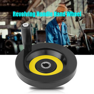 8mm-18mm Lathe Milling Machine Rear Ripple Hand Wheel with Revolving Handle ly