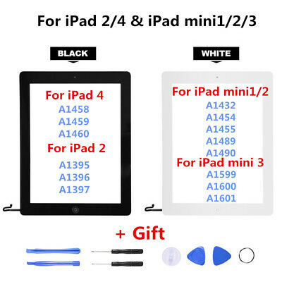 LCD Touch Screen Digitizer Replacement Full Assembly Kit For iPad 2 4 Mini 1 2 3