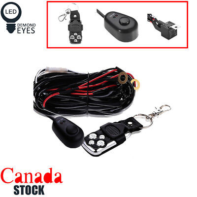 40A 12V Wiring Kit With Wireless Remote Control For LED Light Bar Offroad 3Lead