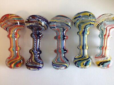 """Double Ring Collectible Tobacco Smoking Pipe Herb Slide Bowl Glass Hand Pipes 4"""""""