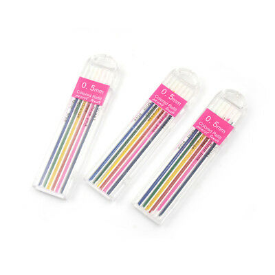 3Boxes 0.5mm Colored Mechanical Pencil Refill Lead Erasable Student Stationary~L