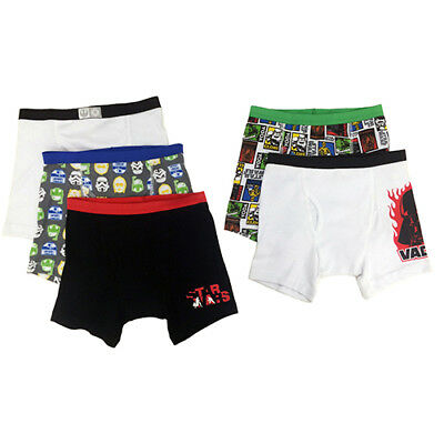 NEW Boys Disney Star Wars Set of 5 Boxer Briefs Size 8 - Free Ship