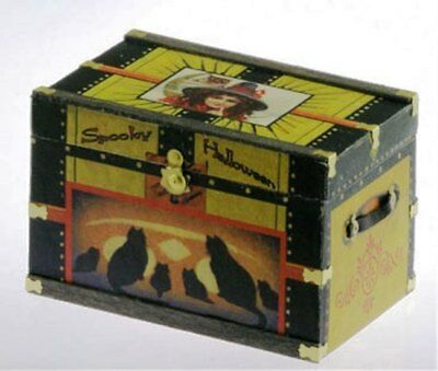 Dollhouse Miniature Trunk Kit -- Lithograph Halloween -- 1:12 Scale