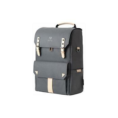 Vinta S-Series Travel Backpack, Natural Leather, Charcoal #SC-N01