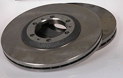 Pair Vented Brake Discs For Front Opel Monterey A B 3.0 3.1 3.2 3.5 1991-1999