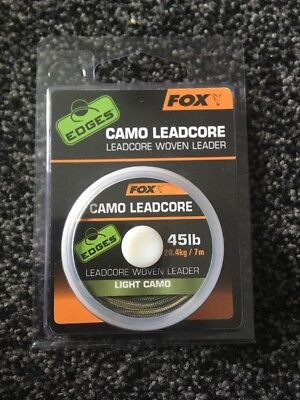 Fox Camo Leadcore Woven Leader 45lb