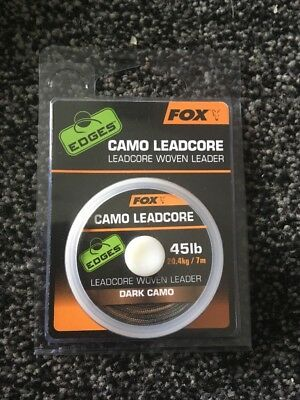 Fox Camo Leadcore Woven Leader 45lb Dark Camo