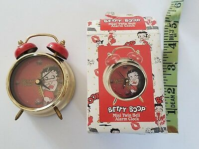 Betty Boop Twin Bell Mini Alarm Clock Non Working Feature 10024 2008 Retired