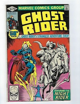 Ghost Rider # 50 Featuring the Night Rider VF- Marvel