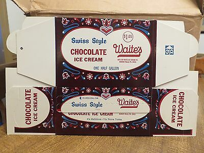 WAITE'S SWISS STYLE CHOCOLATE ICE CREAM CONTAINER--Beaver Falls, PA (Dated 1967)