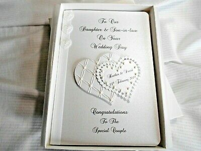 Personalised Wedding Day Card, Daughter & Son-In-Law, Son & Daughter-In-Law