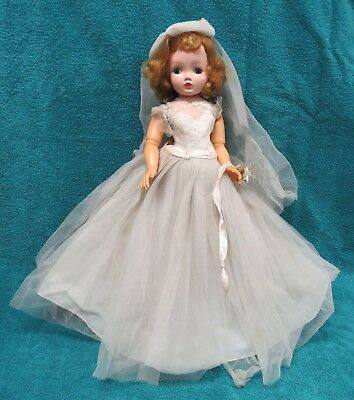 "1950's Vintage 19"" Madame Alexander Cissy Bride Doll w/HP Head"