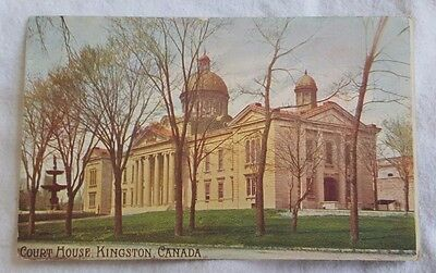 Early 1900's Kingston Ontario Canada Court House Original Antique Postcard Old